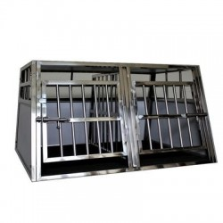 Cage Double Inox - Chien Taille  S