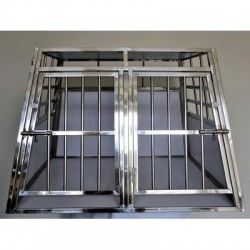 Cage Double Inox - Chien Taille  M+